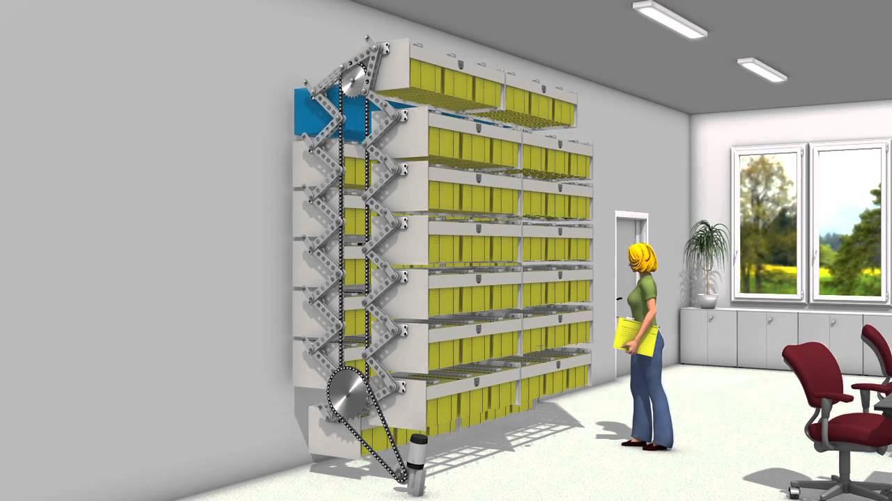 Archivos autom ticos rotativos verticales rotomat el for Estanteria vertical
