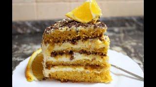 Очень ВКУСНЫЙ Морковный торт ЗИМНЯЯ СКАЗКА с мандариновым курдом и крем чизом