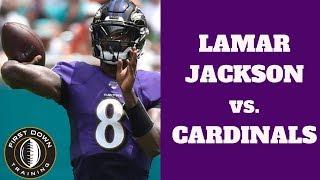LAMAR JACKSON vs. CARDINALS | Week 2 Highlights | (NFL, 2019)