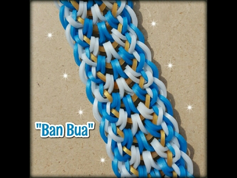 "New ""Ban  Bua"" Hook Only RainbowLoom Bracelet/ How To Tutorial"