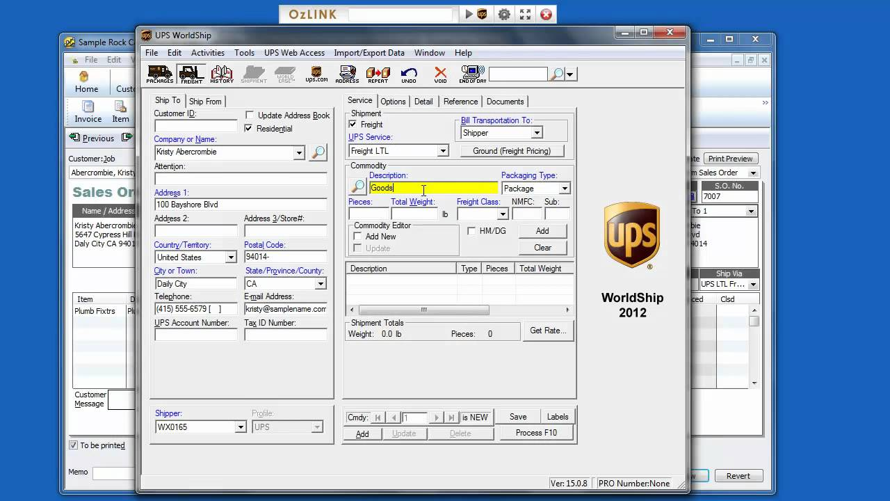 OzLINK Pro for UPS - How to Ship a UPS Freight LTL Shipment from ...