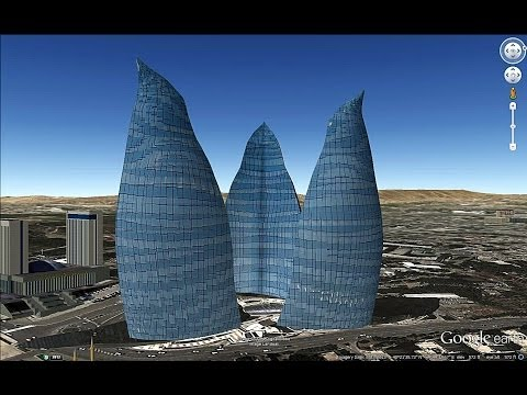 HISTORICAL PLACES OF AZERBAIJAN IN GOOGLE EARTH  PART ONE ( 1/2 )