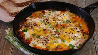 Baked Eggs with Salsa - Shakshouka or Chakshouka