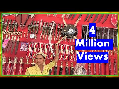 Indian Sword ( Talwar, तलवार  ) Market : Enjoy The Shopping Fun In Indian Village Fair
