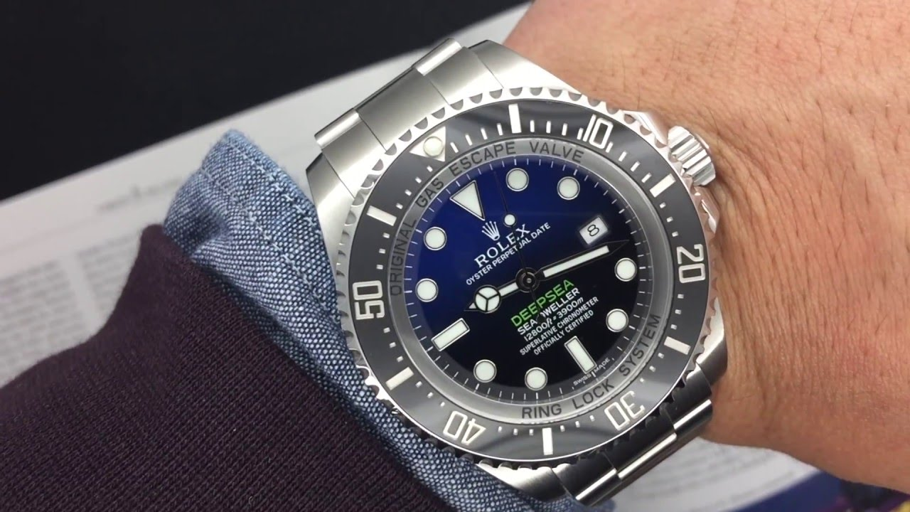 Rolex Deepsea D Blue Dial 116660 James Cameron 44mm Davidsw On Today S Wrist You