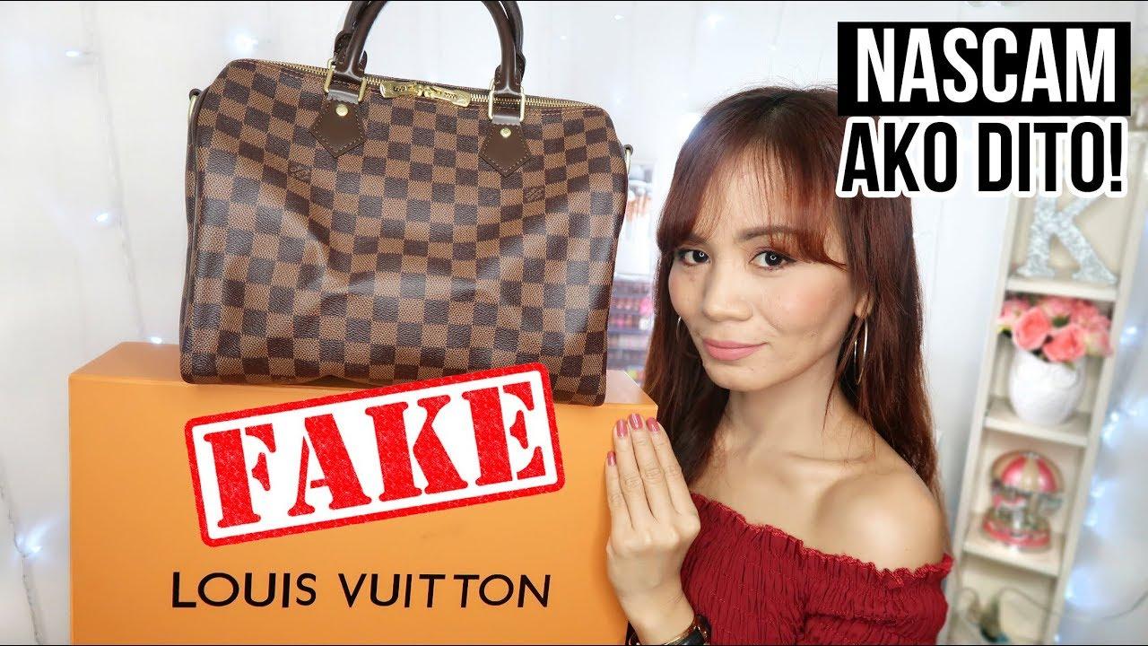 161260e568 FAKE LOUIS VUITTON BAG (NA-SCAM AKO SA CAROUSELL!!) - YouTube