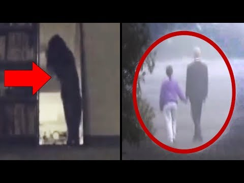 10 SCARY GHOSTS & Mysterious Things Caught On Camera!