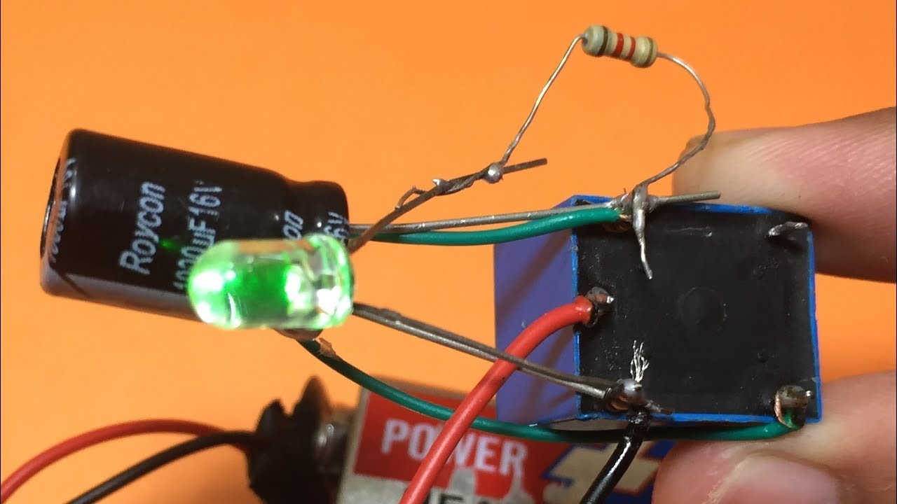how to make simple oscillator flashing blinking led light using relay diy blinking led [ 1280 x 720 Pixel ]