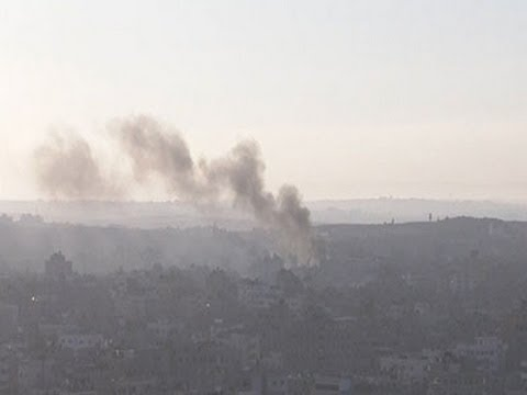 Raw: Rocket Launch, Israeli Airstrike in Gaza
