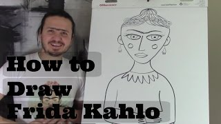 How to Draw Frida Kahlo for kids 2 with Ramon Carrasco
