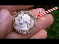 TREASURE FOUND! MONSTER HOARD IN LAWN OF DREAMS PART 1 Metal Detecting 29 Silver Coins   JDs Variety