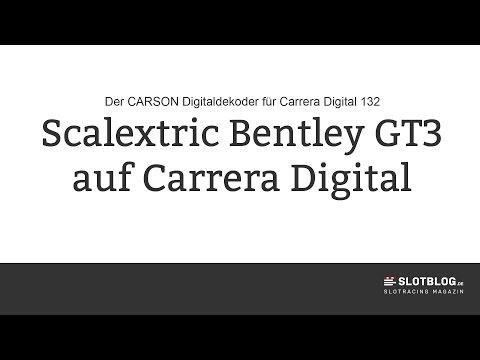 Umbau Scalextric Bentley  GT3 auf Carrera Digital 132