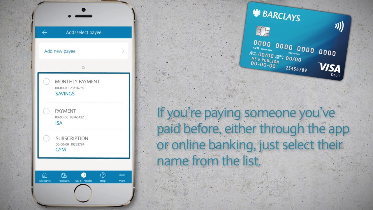 The Barclays App How To Make Payments Youtube