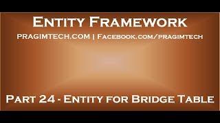 Pek çok ilişki BridgeTable için 24 Varlık