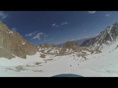 Glissading Down the Chute on Mt Whitney 5/21/2016
