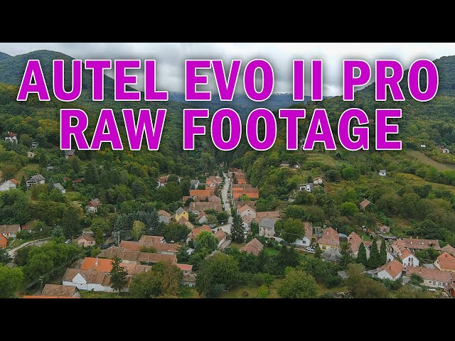 Autel EVO 2 PRO 4K raw footage, without any colorgrading