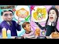 HALLOWEEN PANCAKE ART Challenge: Addams Family & Pennywise (FV Family Challenge)