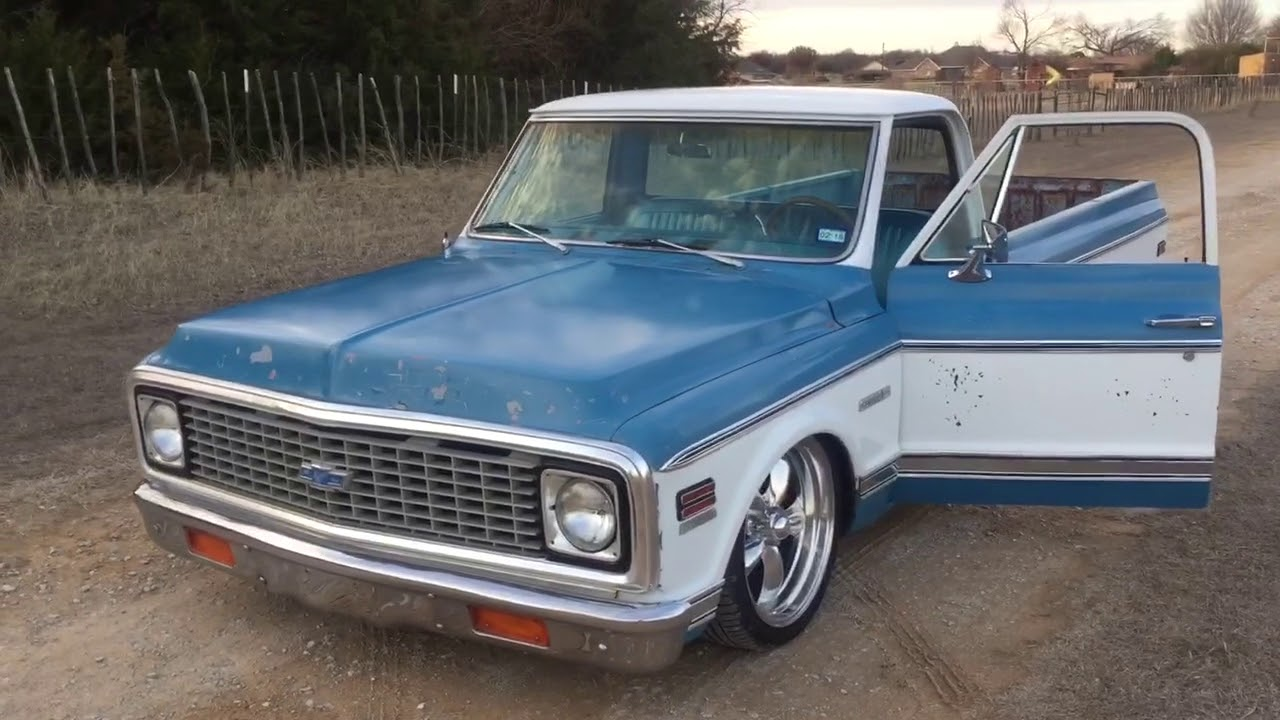 1971 chevy c10 cheyenne pickup patina air ride [ 1280 x 720 Pixel ]