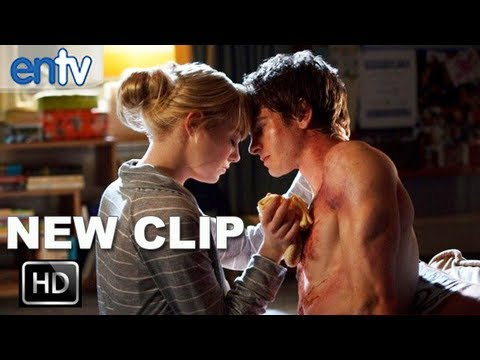 """The Amazing Spider Man """"I Created Him"""" Clip: Andrew Garfield & Emma Stone Get Intimate"""