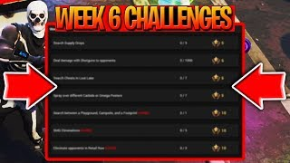 *NEW* Fortnite WEEK 6 CHALLENGES LEAKED! | Spray Paint Posters + MORE! | Fortnite Battle Royale
