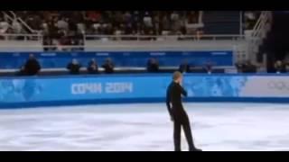 Евгений Плющенко момент получения травмы снялся с олимпиады сочи 2014