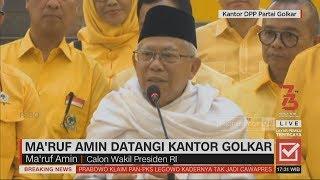 Download lagu Ma'ruf Amin Datangi Kantor Golkar, Bersilaturahmi & Ucapkan Terima kasih; Pilpres 2019
