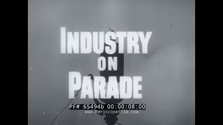 INDUSTRY ON PARADE 1953 ALUMINUM INDUSTRY   NATIONAL BATTERY CO.  TRACKLESS TRAINS 65494b