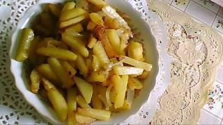 Жареная картошка на смальце  Очень вкусная картошечка
