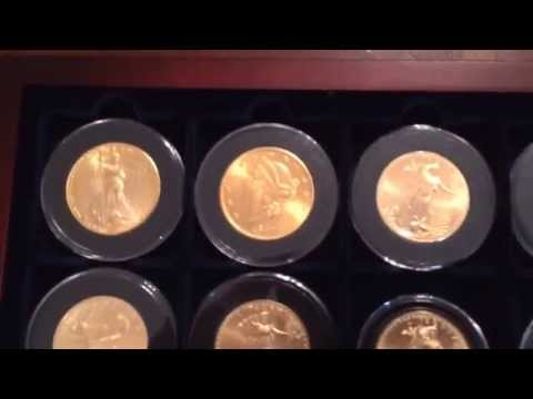 Full one oz. gold bullion coin stack