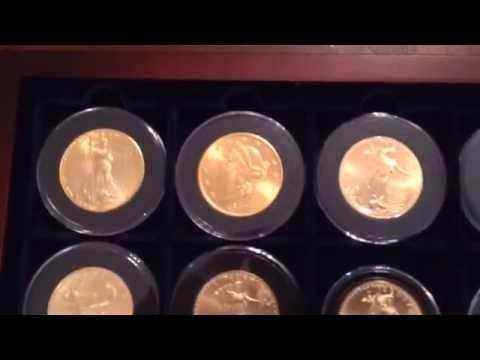 Full one oz. gold bullion coin stack