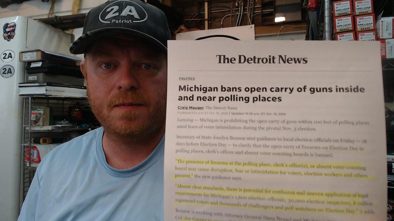 Michigan Secretary Of State Bans Guns At Polling Places
