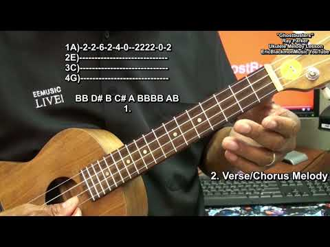 Halloween Ukulele How To Play GHOSTBUSTERS Theme Melody Ray Parker Jr. Lesson