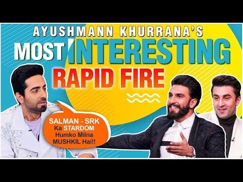 Ayushmann Khurrana EPIC Rapid FIRE On Ranbir- Ranveer, Akshay Kumar | Shubh Mangal Zyada Saavdhan