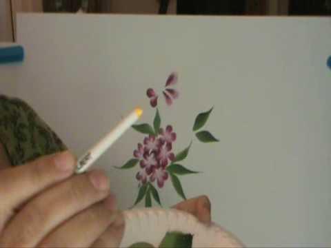 Disfruta pintando flores 3 b youtube - Aprender a pintar en madera ...