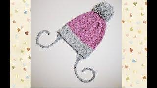 Как я провязываю ЗАВЯЗКИ для детских шапок. ВЯЗАНИЕ СПИЦАМИ. Knitting