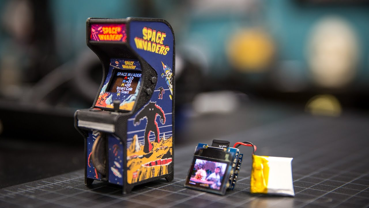 Show and Tell: Tiny Arcade Cabinet! - YouTube