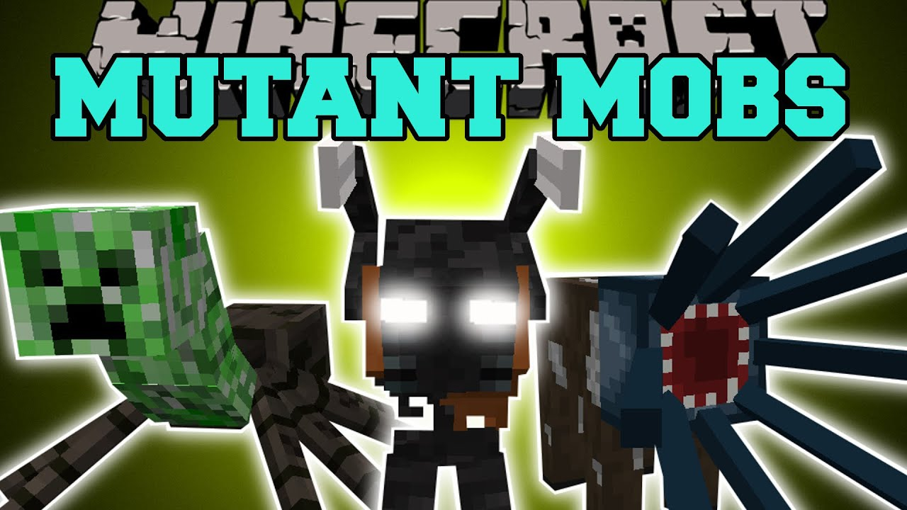 Minecraft: MUTANT MOBS (INSANE NEW BOSS & FUNNY MOBS WITH SPECIAL ...
