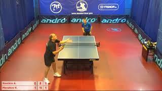 Настольный теннис матч 170718 3 Сироткин Андрей Манаков Евгений
