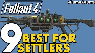 Top 9 Best Guns and Weapons for Equpping or Giving to Settlers in Fallout 4 PumaCounts