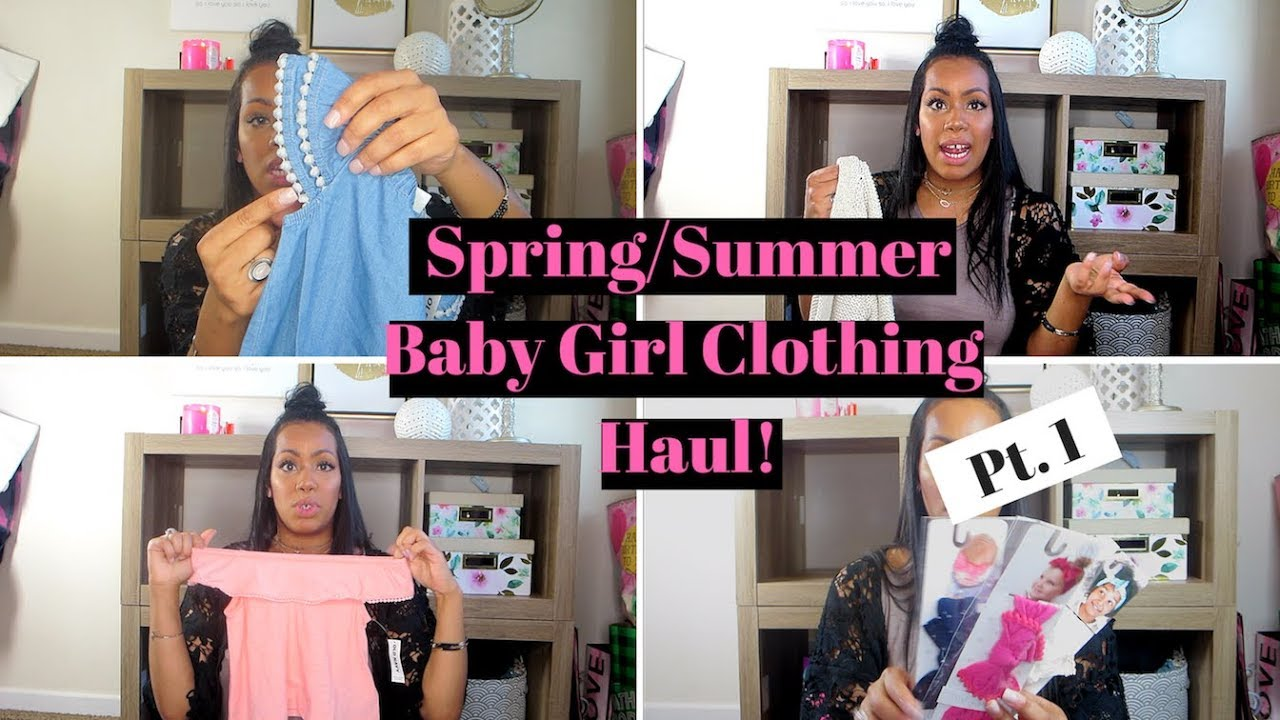 313d5aff6899 Baby Girl & Toddler Spring/Summer Clothing Haul | Old Navy Baby Bling Burts  Bees Baby Pt. 1