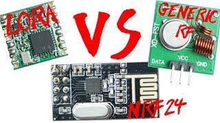 LoRa Module VS nRF24 VS Generic RF Module || Range & Power Test