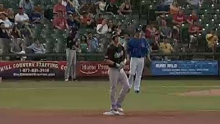 Josh Reddick doubles for the River Cats
