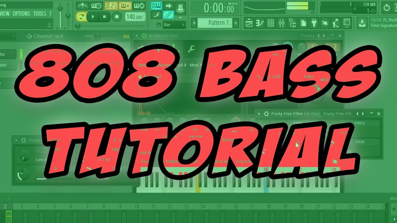 How To Make Your Own 808 Bass!! ( FL Studio Tutorial )