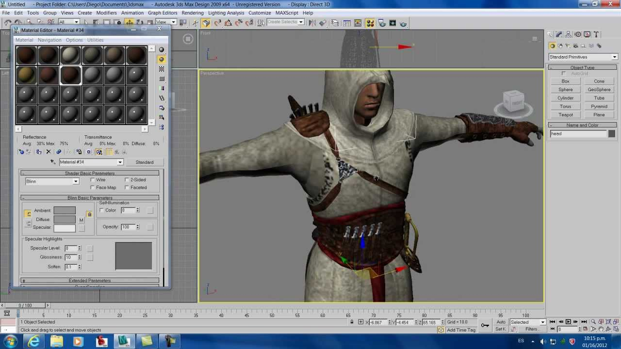 Asignar o agregar huesos animar un personaje con ropa for Sillas para 3d max