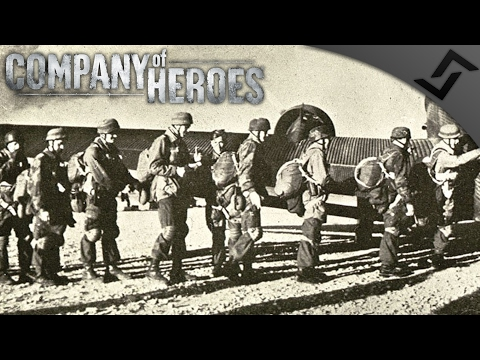 Dropping into Crete - Company of Heroes Battle of Crete Mod - Fallschirmjäger Assault!