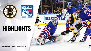NHL Highlights | Bruins @ Rangers 2/16/20
