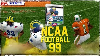 NCAA Football 99 in 2018 4K Gameplay: Michigan vs. Miami PS1 College Football is Back!