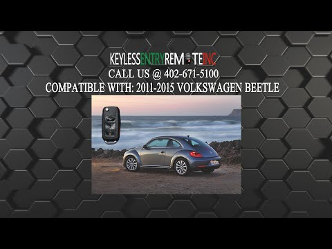 How To Replace Volkswagen Beetle Key Fob Battery 2011 2012 2013 2014 2015