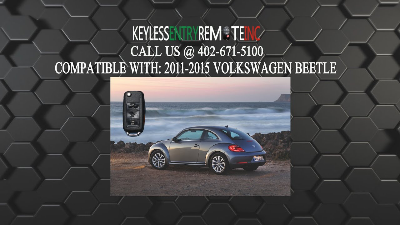 replace volkswagen beetle key fob battery      youtube