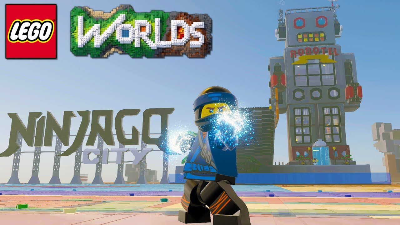 Lego Worlds Ninjago City Sign And Robotel Brick Build Showcase Free Downloads Youtube